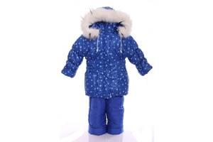 Зимовий костюм для дівчинки Класика з малюнком електрик зі сніжинкою