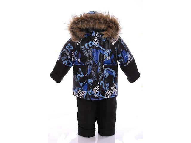 продам Зимний костюм для мальчика Классика с рисунком синий Chicago бу в Одессе