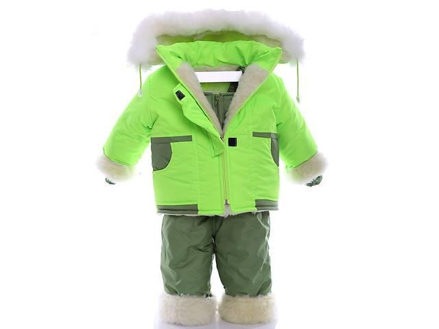 купить бу Зимний костюм на сплошном меху салатовый в Киеве
