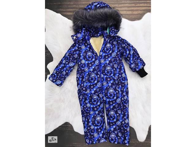 купить бу Зимний цельный комбинезон Снежинка синяя в Киеве