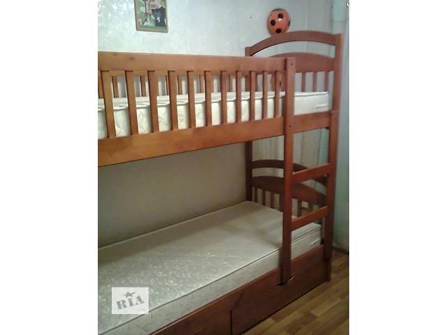 Двух & amp; # 39; ярусная детская кровать Карина + матрасы + ящики! В наличии.- объявление о продаже  в Киеве