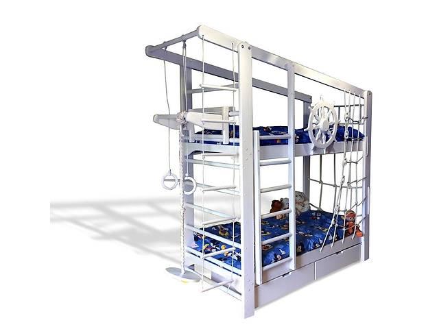 бу Двухъярусная спортивная кровать Капитан с ящиками и навесными элементами в Одессе