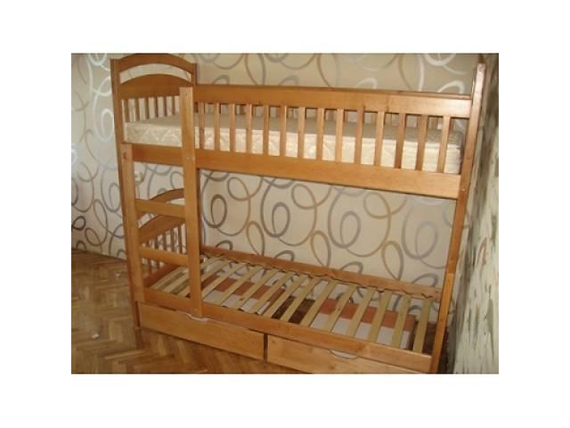 купить бу Двухъярусная кровать трансформер Карина из ольхи от производителя в наличии в Киеве