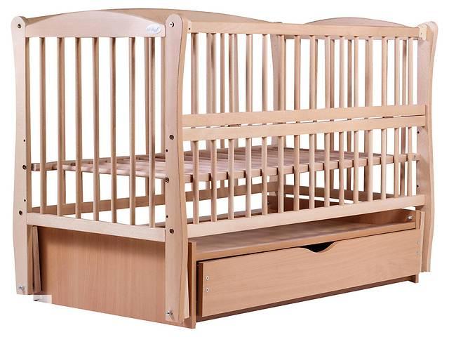 Кровать Babyroom Еліт маятник, ящик, откидной бок DEMYO-5 бук светлый (натуральный)- объявление о продаже  в Киеве