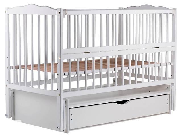 купить бу Кровать Babyroom Веселка маятник, ящик, откидной бок DVMYO-3 бук белый в Бердянске