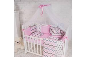 Балдахин Baby Design белый с розовым
