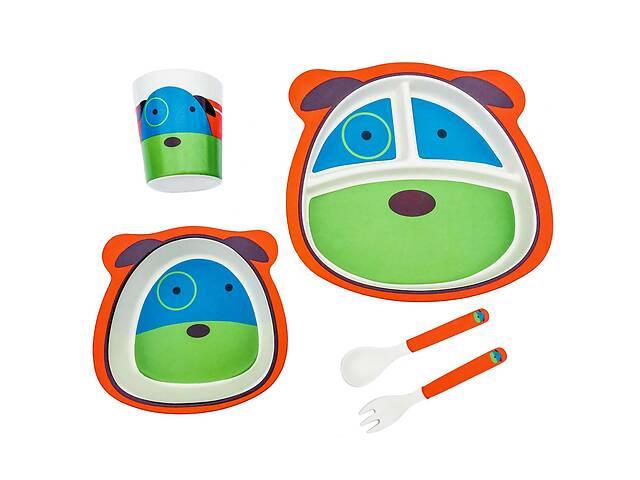 продам Детская бамбуковая посуда Собачка, набор из 2-х тарелок, чашки, ложки и вилки BP21 Dog SKL25-149777 бу в Одессе