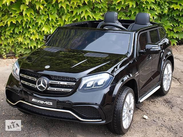 купить бу Детский электромобиль Mercedes AMG GLS63: двухмесный, 2 акумулятора и 4 мотора в Львове