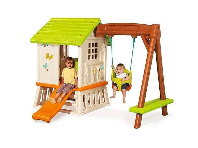 продам Детский игровой домик-площадка LORIEN Smoby, качеля+горка бу в Львове