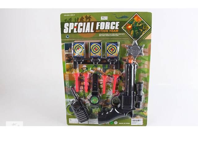 продам Полицейский набор - пистолет  с присосками, мишени, жетон, рация бу в Дубно