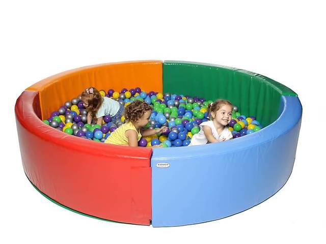 купить бу Сухой бассейн из мягких модулей KIDIGO Круг 2,5 м в Киеве