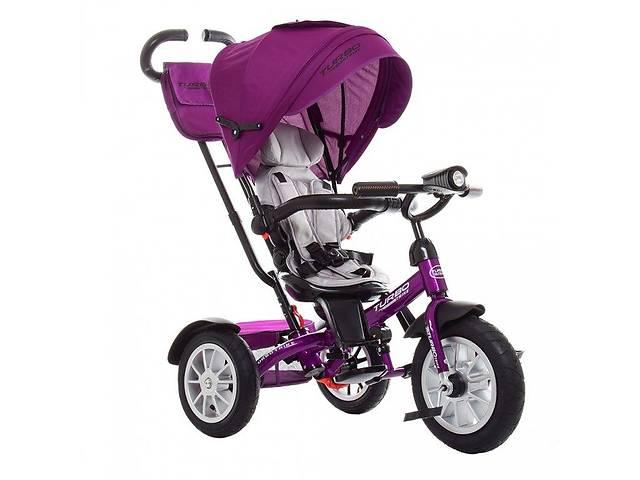 продам Велосипед трехколесный с ручкой детский Turbo Trike M 4057-8, надувные колеса, фуксия бу в Киеве