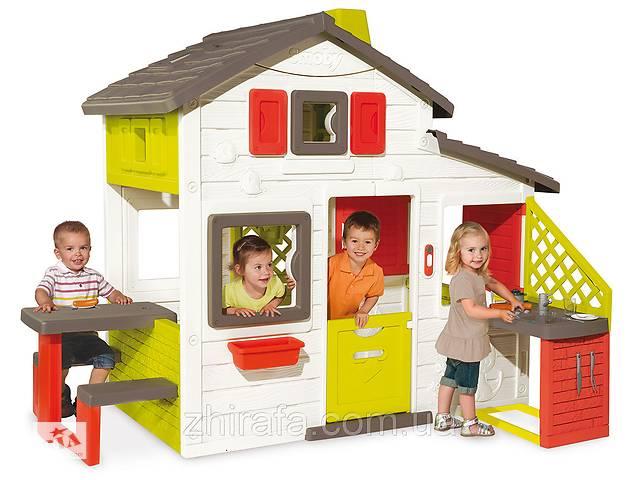 купить бу Игровой детский домик Smoby с чердаком и летней кухней (810200) в Одесі