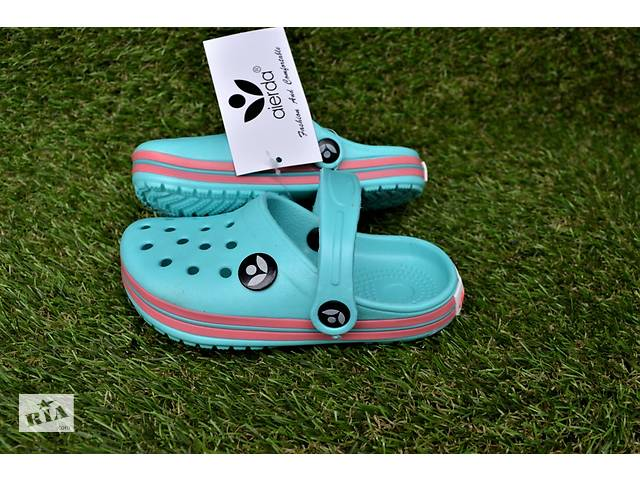 Детские кроксы crocs бирюза р24-29- объявление о продаже  в Южноукраинске