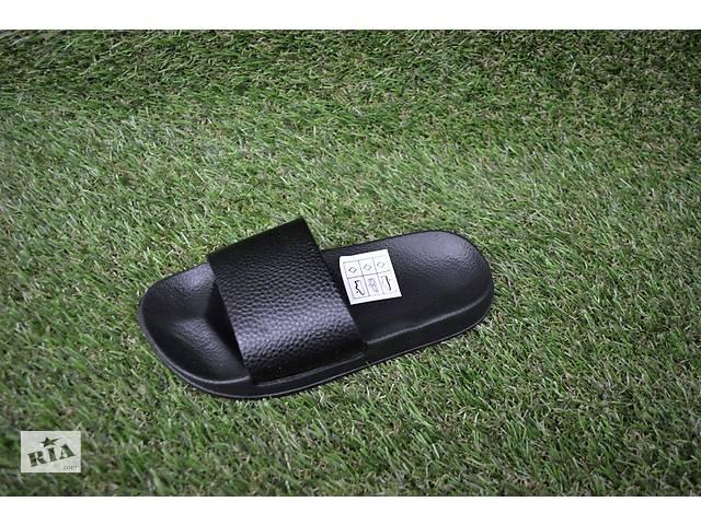 Детские шлепки тапочки аналог Adidas черные пена р30-35- объявление о продаже  в Южноукраинске