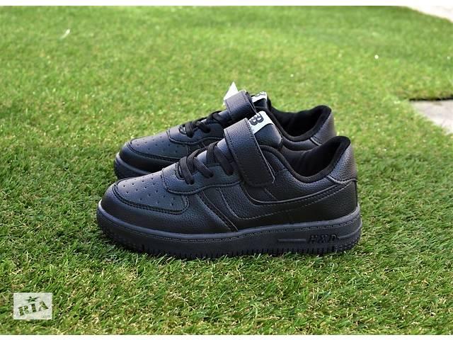 бу Подростковые детские кроссовки найк Nike air force black р31-36 в Южноукраинске