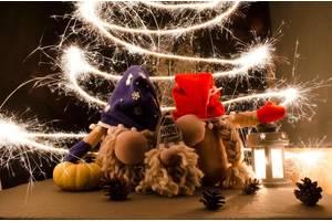 АКЦИЯ! Мягкая игрушка новогодний скандинавский гном хенд мейд