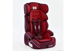 Автокресло универсальное Е 4327 Цвет красный 9-36 кг, с бустером, Joy