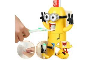Автоматический дозатор зубной пасты Ensi Minion диспенсер с держателем для щеток