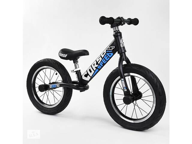 бу Беговел для детей от 2-х лет с надувными резиновыми колесами диаметром 14 дюймов CORSO 32839, синий в Одессе