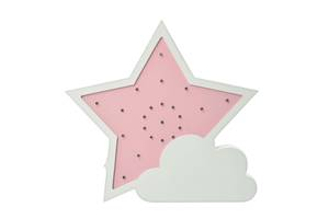 Деревянная игрушка Ночник MD 2076 (Звезда (Розовая))