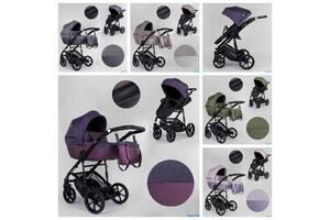 Дитяча коляска 2 в 1 Expander VIVA водовідштовхувальна тканина + еко-шкіра
