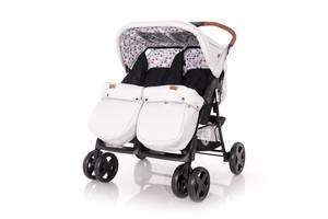 Детская коляска для двойни Lorelli Twin Черно-серая