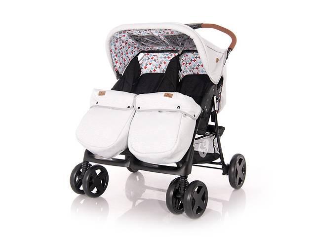 купить бу Детская коляска для двойни Lorelli Twin Черно-серая в Одесі