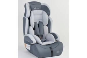 Детское автокресло JOY 59646  универсальное, группа 1/2/3, вес ребенка от 9-36 кг, серое