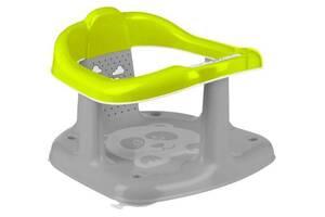 Детское пластиковое сиденье для купания в ванночкуMaltex Panda,салатовый с серым