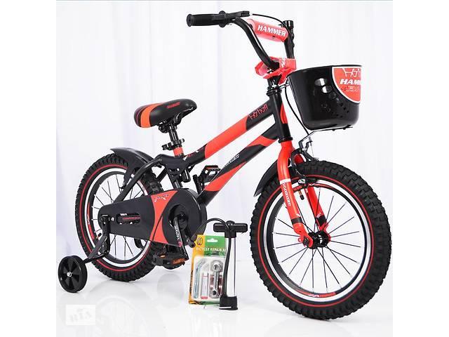 бу Детский двухколесный велосипед  (от 5 лет) на 16 дюймов HAMMER красный в Одесі