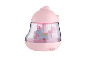 """Детский музыкальный ночник Kronos Top """"Карусель"""" с USB зарядкой, розовый Ночник для девочек"""