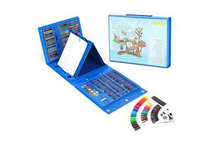 Детский набор для рисования в чемоданчике из 176 предметов - Голубой