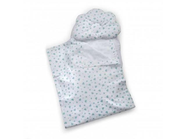 Детский набор в коляску Twins 100% хлопок (плед, ортопед. подушка, простынь) мятный. Подарок новорожденным- объявление о продаже  в Киеве