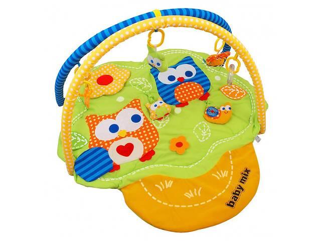продам Детский развивающий коврик складной с дугами Baby Mix Дерево с совами,85х85 см. Подарок для грудничка бу в Киеве