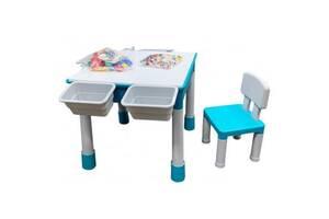 Детский стол Microlab Toys Конструктор Игровой Центр + 1 стул (GT-16)