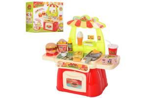Детский игровой набор магазин ФастфудBambi витрина с кассой и рабочей поверхностью, 28 деталей