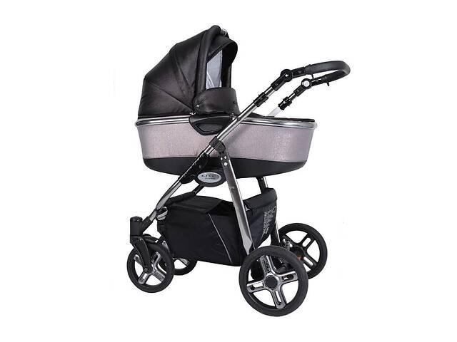 Дитяча коляска 2 в 1 Kunert Professional Libero Premium Class голографік чорна