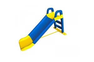 Горка детская Сине-желтая DOLONI 140 см (0140)