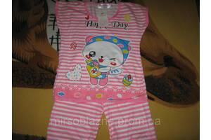 КОМПЛЕКТ футболка+бриджи розовая в полоску размер 10