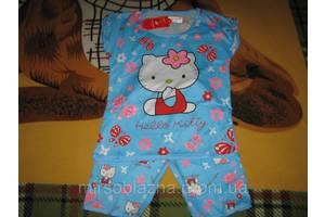 КОМПЛЕКТ на девочку HELLO Kittj футболка+бриджи голубая размер 12