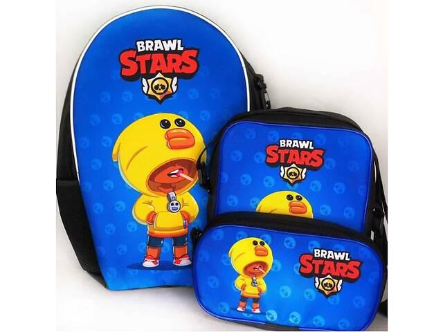 Комплект: рюкзак, сумка і пенал Superbag Brawl Stars Леон Качка (PO221L)- объявление о продаже  в Одесі