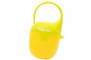 Контейнер для пустышек Baby Team Салатовый с желтым (3301_желто-салатовый)