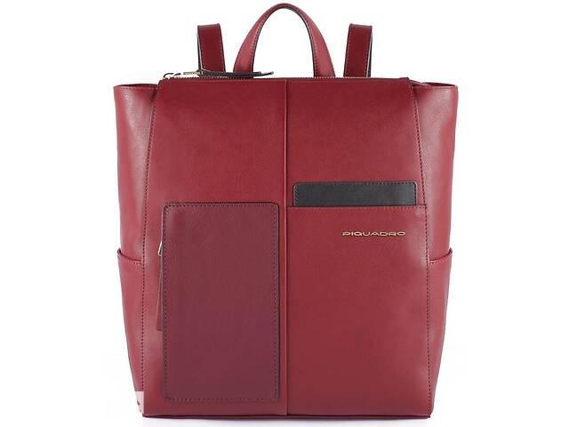 продам Кожаный городской рюкзак Piquadro Echo бордовый 16 л бу в Киеве