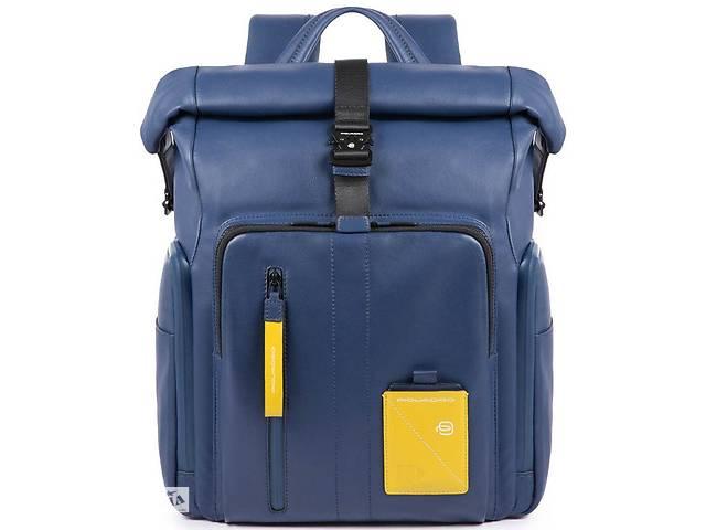 продам Кожаный городской рюкзак Piquadro Explorer синий 19 л бу в Киеве