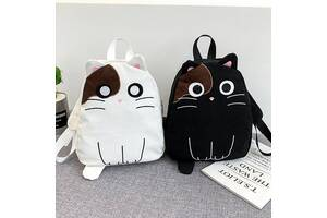 Красивый рюкзак с уникальным принтом кота