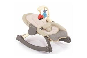 Кресло-качалка для новорожденных Weina MusiCozzi Joy с погремушками, коричневая. Подарок для грудничка