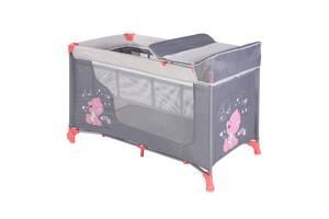 Кровать-манеж Lorelli Moonlight 2 Серо-розовый