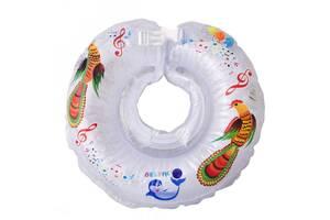 Круг для купания для самых маленьких от 0-36 Tega Baby Дельфин, белый
