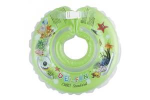 Круг надувной детский для купания новорожденных Tega Baby Дельфин 0-36, салатовый